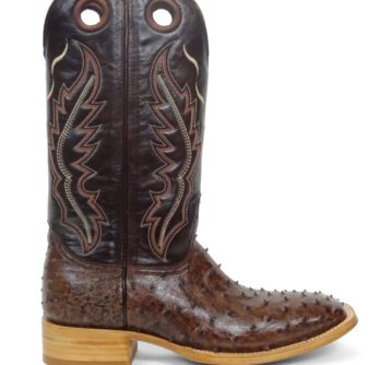 Ostrich boot Kango Tabac Bruciato
