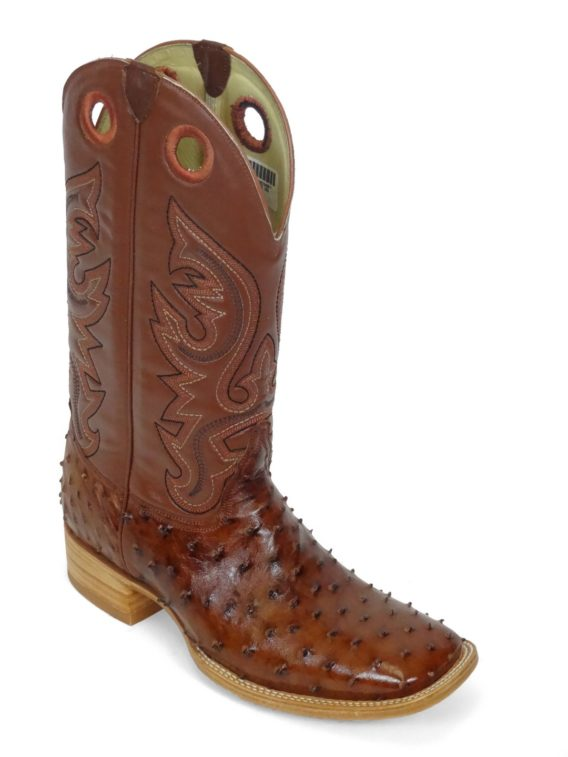 Men ostrich boot brandy cc
