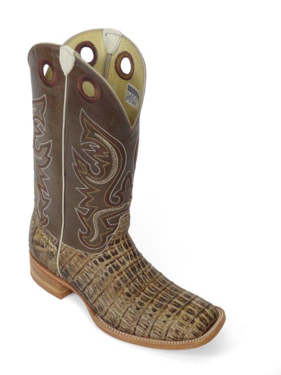 Men Boots Belly Caiman Tail Peanut Sundance
