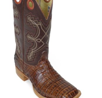 Men Boots Belly Caiman Tail Pecan Signature
