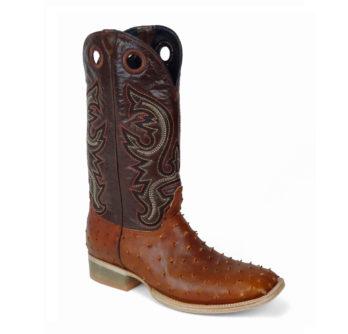 Men Boots Ostrich COGNAC OIL