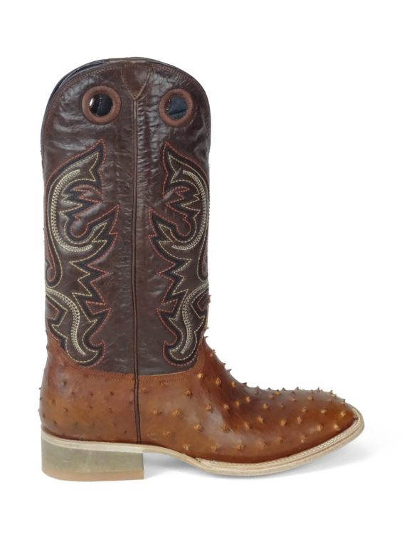 Men Boots Ostrich COGNAC OIL
