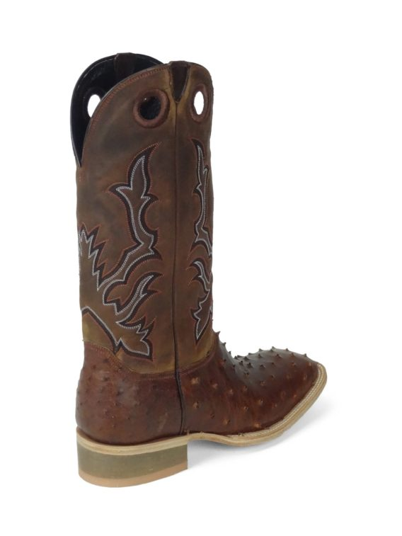 Men Boots Ostrich Almond Oil