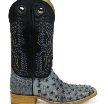 Men Boots Ostrich Black RG