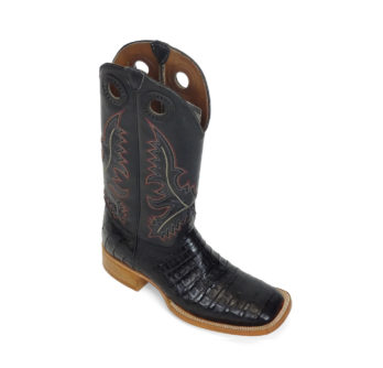 Men Boots Belly Caiman Black