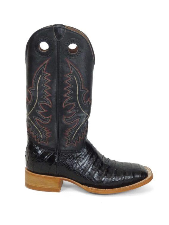 Men Boots Belly Caiman Black