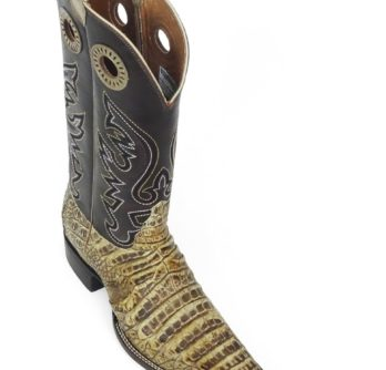 Men Boots Belly Caiman Throat Peanut Sundance