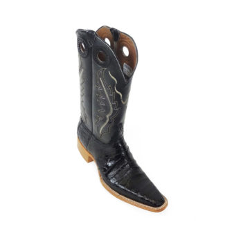 Men Boots Belly Caiman Throat Black