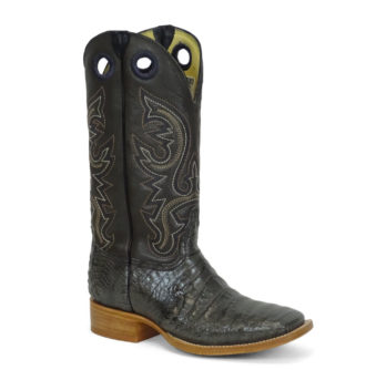 Men Boots Belly Caiman Throat Grey
