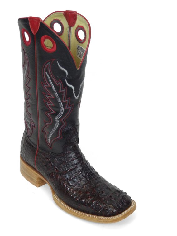 Men Boots Hornback Caiman Black Cherry