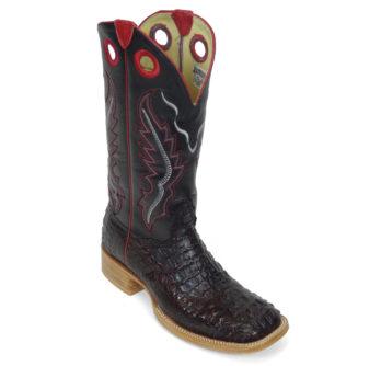Men Boots Hornback Caiman Black Cherry