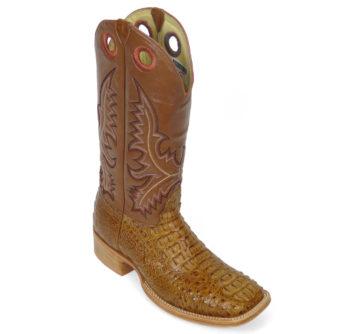 Men Boots Hornback Caiman Cognac Pull Up