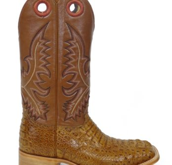 Men Boots Hornback Caiman Cognac Pull Up