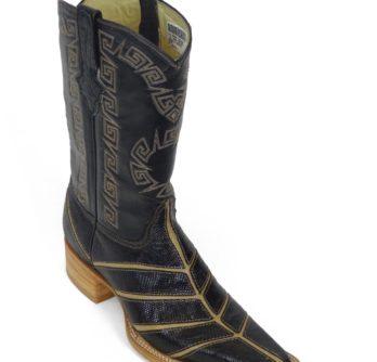 Men Boots Lizard Teju Black Bars