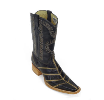 Men Boots Lizard Teju Black Bars