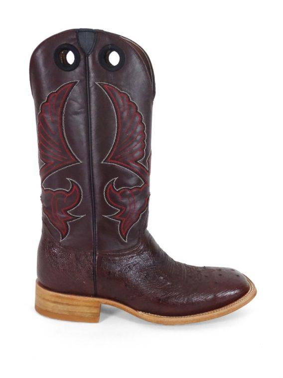 Men Boots Belly Ostrich Burgundy