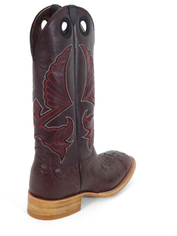 Men Boots Belly Ostrich Burgundy
