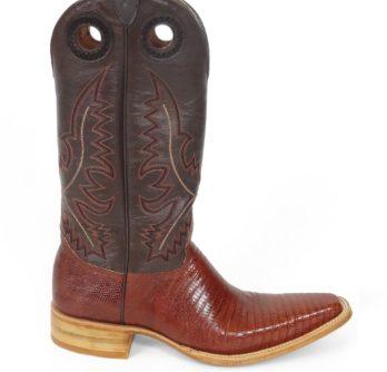 Men Boots Lizard Teju Cognac