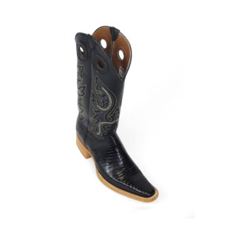 Men Boots Lizard Teju Black