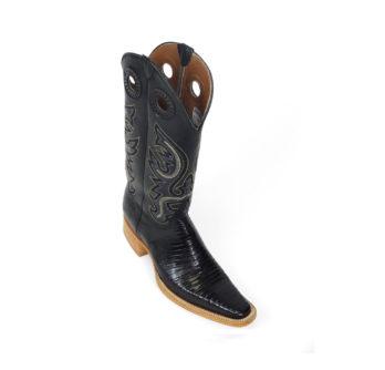 Men Boots Lizard Teju Black