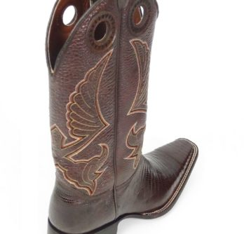 Men Boots Lizard Teju Brown
