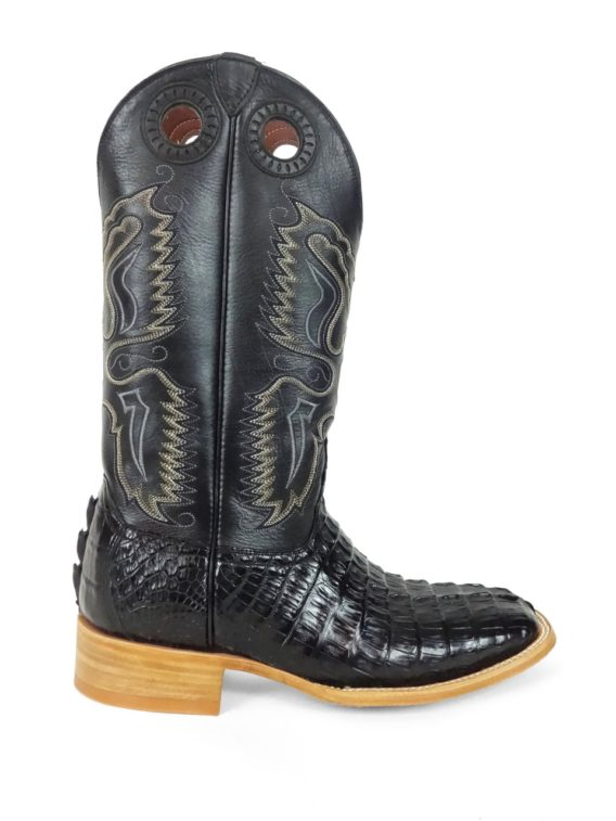 Men Boots Hornback Caiman Tail Black