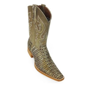 Men Boots Belly Caiman Tail Peanut Sundance