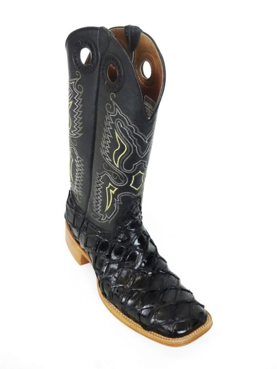 Men Boots Pirarucu Black