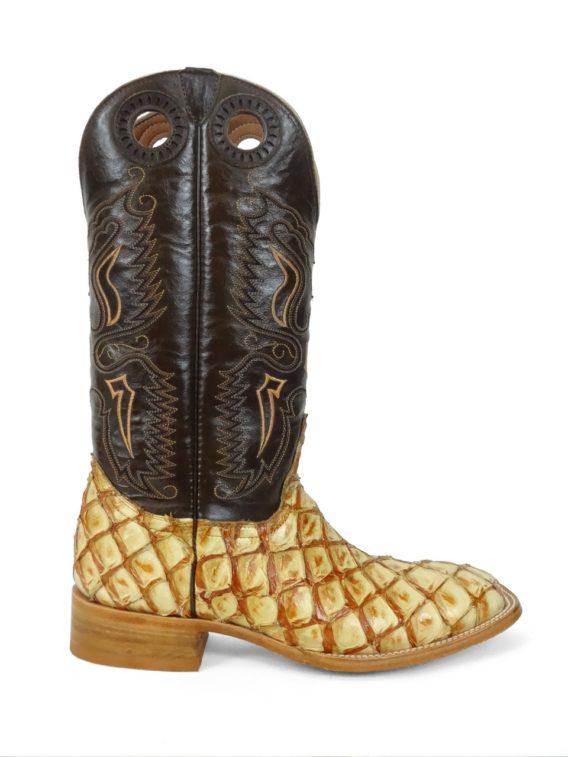 Men Boots Pirarucu Antique Saddle