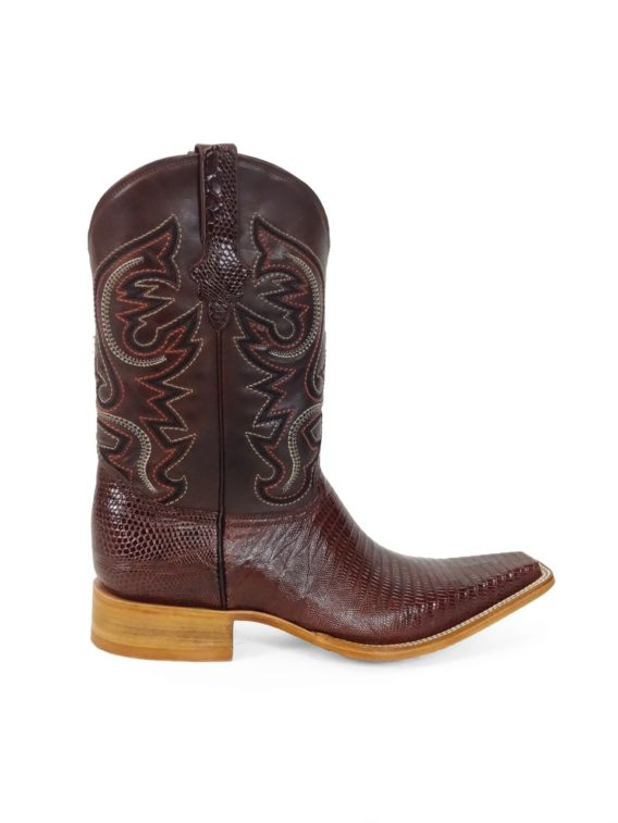 Men Boots Lizard Teju Brown