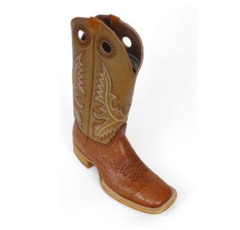 Men Boots Belly Ostrich Cognac