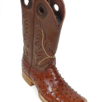 Men Boots Ostrich Cognac CC
