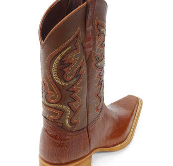 Men Boots Belly Ostrich Cognac CC
