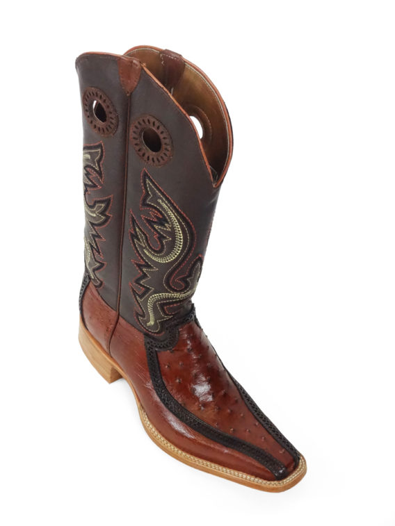 Men Boots Ostrich Cognac CC CLS