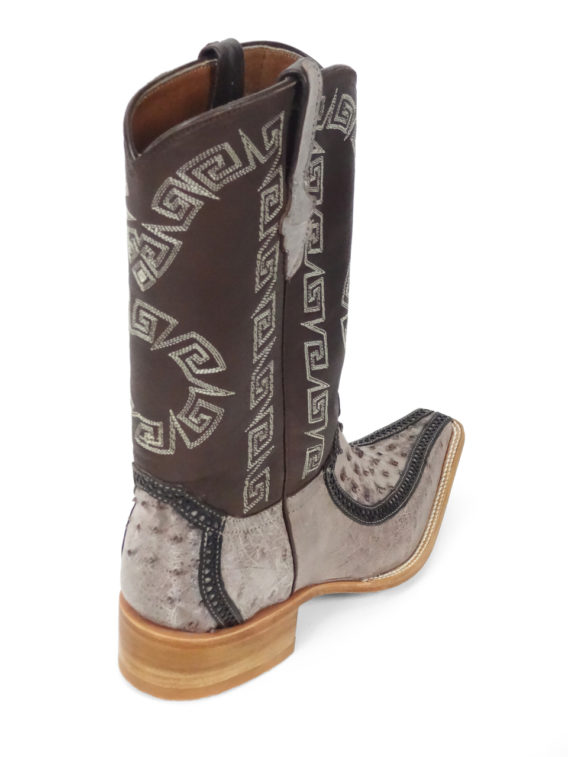 Men Boots Ostrich Kango Tabac RG CLS