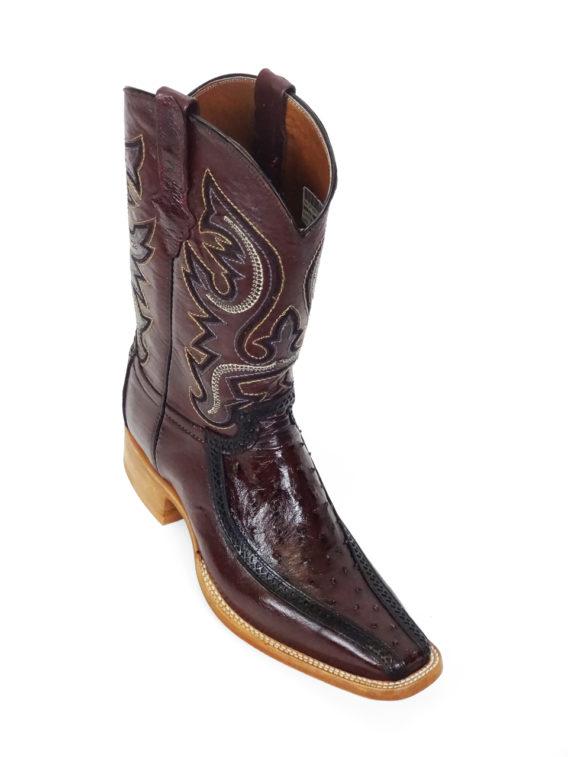Men Boots Ostrich Burgundy CLS
