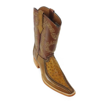 Men Boots Ostrich Antique Saddle CLS