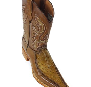 Men Boots Ostrich Antique Saddle CLS