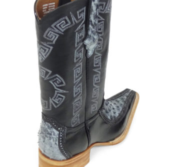 Men Boots Ostrich Black RG CLS