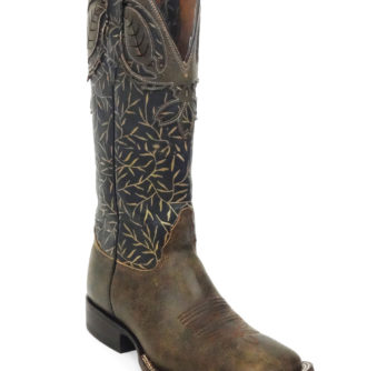 Lady Boots Cow Hide Brown Leaves