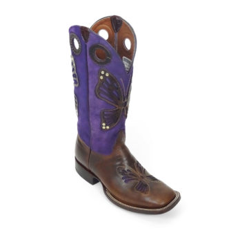 Lady Boots Cow Hide Frida Tan Butterfly