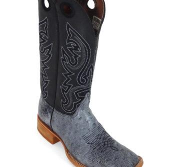 Men Boots Belly Ostrich Black RG