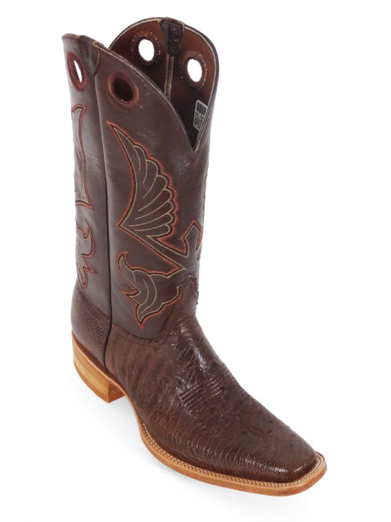 Men Boots Belly Ostrich Kango Tabac Bruciato
