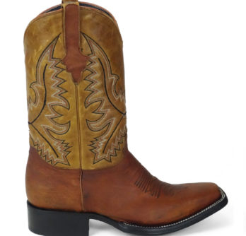 Men Boots Belly Ostrich Cognac Oil