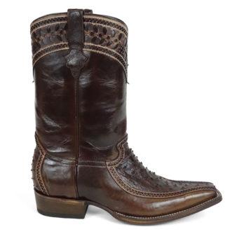 Men Boots Ostrich Kango Tabac CC CLS